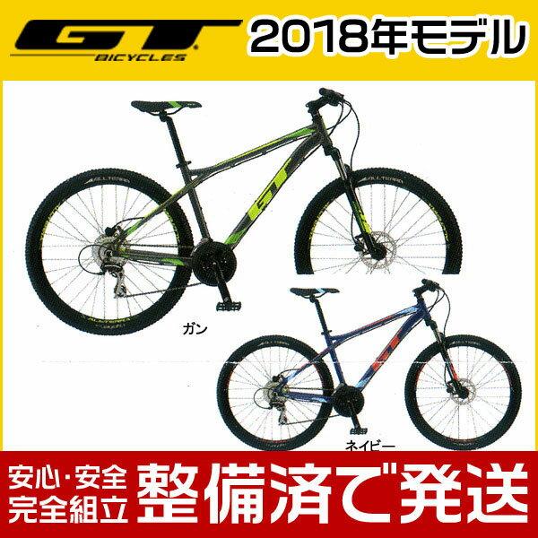 【ポイント6倍!】GT(ジーティー) 2018年モデル AGGRESSOR SPORT/アグレッサー スポーツ【27.5インチ】【MTB/マウンテンバイク】