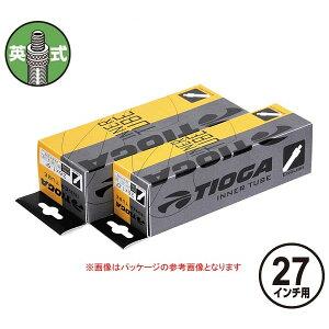 TIOGA(タイオガ) インナー チューブ 英式 27x1.3/8インチ 厚み:1.2mm/Inner Tube (English Valve) [TIT125]【27inch/27インチ】【シティバイク用/街乗り車用】【英式バルブ口】【自転車用】【チューブ】【b