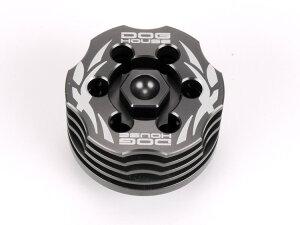 鍛造CNC 冷却フィン付 オイルストレーナーキャップ(オイルドレインプラグ)グレー DOG HOUSE GTR125