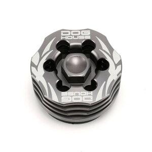 鍛造CNC 冷却フィン付 オイルストレーナーキャップ(オイルドレインプラグ)グレー DOG HOUSE マジェスティS(MAJESTY)
