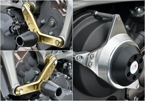 レーシングスライダーセット エンジンハンガースライダーΦ60(左右セット)&クラッチ側 AGRAS(アグラス) MT-09