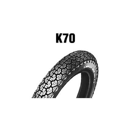 ダンロップタイヤ(DUNLOP)K70(フロント)(リア)3.50-19 57P WT