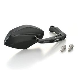 パラレルミラー ヘキサゴン 左用 ブラストブラック 新保安基準適合 DAYTONA(デイトナ)