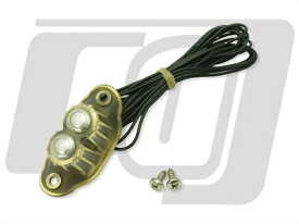 K-TECH 2ボタンスイッチハウジング ブラスRAW KUSTOM TECH(K-TECH)