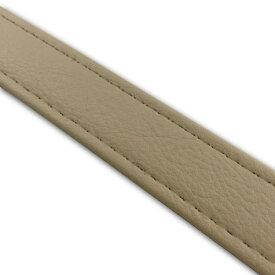 レザーベルト(タンデムベルト等)ベージュ/ステッチ 透明/長さ 62cm/幅 2.5cm GRONDEMENT(グロンドマン)