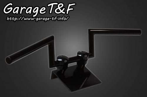 ドラッグスター400/クラシック(DRAGSTAR) ロボットハンドル(Ver1)4インチ(ブラック)25.4mm ガレージT&F
