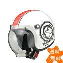 HONDA ホンダモンキーヘルメット ホワイト/レッド Mサイズ(ジェットタイプ)57〜58cm未満 HONDA(ホンダ)