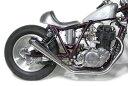 SR400/SR500(キャブ車) メガホンマフラー フルエキゾースト アップ MOTORROCK(モーターロック)