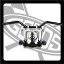 SR400/SR500(01年〜) ナロートラッカーバー ブラック AMAL364ホルダー&ワイヤーセット GOODS(モーターガレージグッズ)