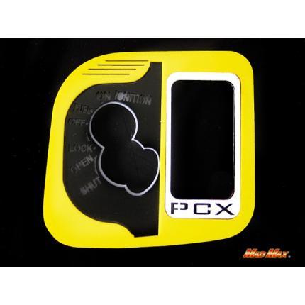 LEDメインスイッチカバー イエロー/ホワイト レッド発光 MAD MAX(マッドマックス) PCX125(JF28)※JF28-11〜は取り付け不可