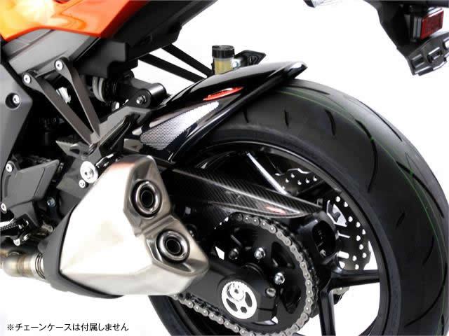 Z1000(14年〜) Hugger メッシュド・インナーフェンダー (ブラック/シルバーM タイプA) Powerbronze(パワーブロンズ)