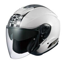 ASAGI(アサギ)SPEED(スピード)ホワイト Lサイズ インナーサンシェード付ジェットヘルメット OGK