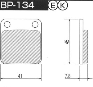 ハイパーカーボンパッド 改 BP-134 フロントディスク プロジェクトミュー(Project μ) CBX125 年式:82年 シングルディスク
