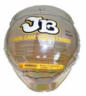 ヘルメット JB用 BBシールド レインボーミラー フリーサイズ RIDEZ(ライズ)