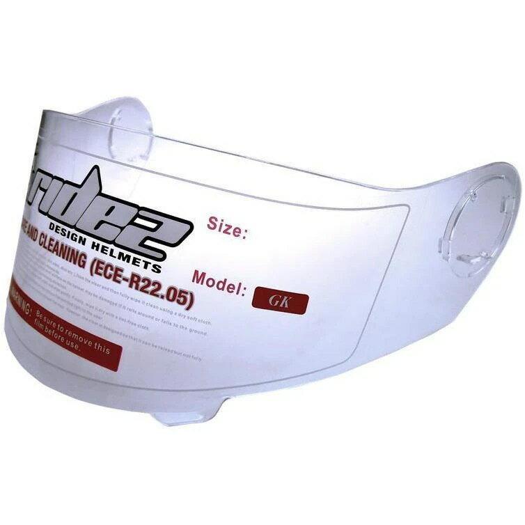 GKヘルメット専用 シールド クリア フリーサイズ RIDEZ(ライズ)