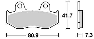 XLR250 ストリート(セラミック)ブレーキパッド フロント用 E104 SBS(エスビーエス)