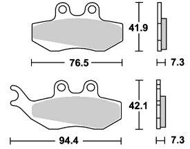 Aprilia RS50(06年〜) ストリート(セラミック)ブレーキパッド フロント用 E120 SBS(エスビーエス)