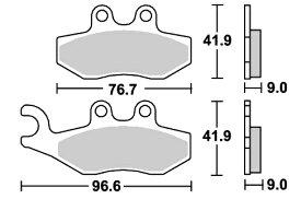 Aprilia SR MAX300(12年〜) ストリート(セラミック)ブレーキパッド フロント用 E177 SBS(エスビーエス)