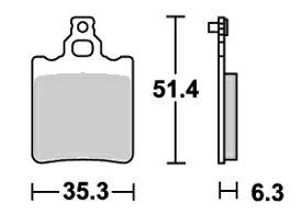 Aprilia RS50(99〜05年) ストリート(セラミック)ブレーキパッド リア用 574HF SBS(エスビーエス)