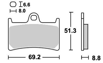 XT1200Zスーパーテレネ(10年〜) レーシング(デュアルカーボン)ブレーキパッド フロント用 634DC SBS(エスビーエス)