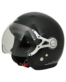 SPJ-9103S Gayla ジェットヘルメット SOLID P.ブラック フリーサイズ(58〜60cm) SPOON JET(スプーンジェット)