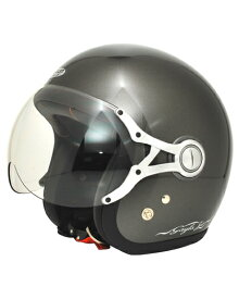 SPJ-9103S Gayla ジェットヘルメット SOLID P.ガンメタル フリーサイズ(58〜60cm) SPOON JET(スプーンジェット)