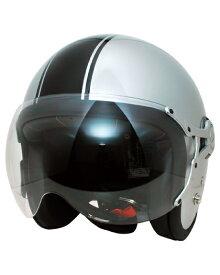 SPJ-9103S Gayla ジェットヘルメット Tow-tone シルバー/ブラック フリーサイズ(58〜60cm) SPOON JET(スプーンジェット)
