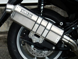 NMAX(エヌマックス)SE86J チタンオーバル ソリッド フルエキゾーストマフラー JMCA WR'S(ダブルアールズ)