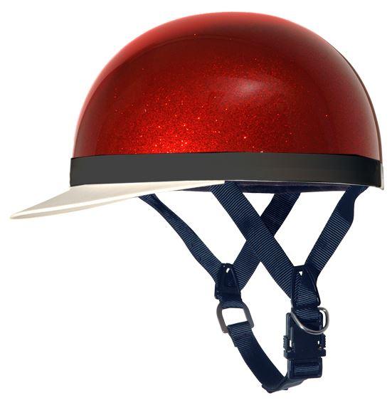 XR SEIRIES半キャップヘルメット レッドラメ X-EUROPE(クロスヨーロッパ)