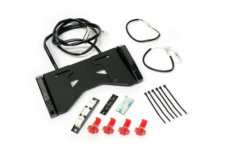 ACTIVE アクティブ 30100067 LEDウインカーミニ スライド式ライセンスホルダー付 スモークレンズ