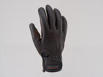 支持DAYTONA 95451 HBG009山羊皮肤手套手套标准触摸屏的棕色L尺寸