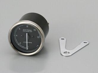 代托纳 48564 机械转速表 (白光 LED 照明 / 齿轮比 1:05) 12,000 rpm 黑色面板 / 黑色身体代托纳 48564