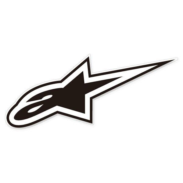 アルパインスター 663504-10 ステッカー L (17.5x7cm) A STAR ホワイト/ブラック