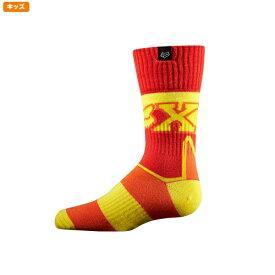 FOX フォックス 12234-080-L ソックス ユース フライ シック インペリアル レッド/イエロー YLサイズ ユース/子供用 くつした 靴下 子供用 ダートフリーク
