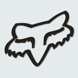 FOX フォックス 14352-001-000 ダイカットステッカー Foxhead フォックスヘッド ブラック 10cm ダートフリーク