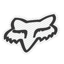 FOX フォックス 14423-008-NS ステッカー ビッグHEAD ビックヘッド ホワイトドット 18cm ダートフリーク