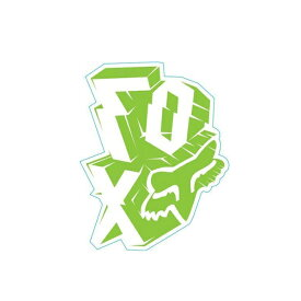 FOX フォックス 14481-323-000 ステッカー Outta Whack アウッタワック ビビッドグリーン 12cm ダートフリーク