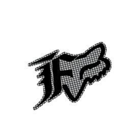 FOX フォックス 14485-006-000 ステッカー Oxford オックスフォード グレー 11cm ダートフリーク