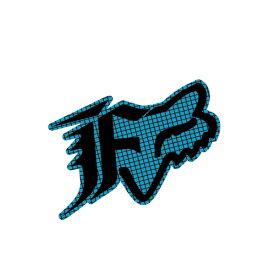 FOX フォックス 14485-029-000 ステッカー Oxford オックスフォード エレクトロニックブルー 11cm ダートフリーク