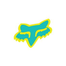 FOX フォックス 14898-495-OS ステッカー HEAD ヘッドステッカー 2015 マイアミグリーン 10cm ダートフリーク