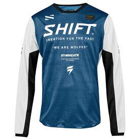 SHIFT シフト 21723-002-M ホワイトレーベル ミューズ ジャージ 2019 ブルー Mサイズ 長袖Tシャツ ダートフリーク