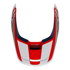 FOX フォックス 22975-248-XL V1ヘルメット用 バイザー プリズム 2019 ネイビー/レッド XLサイズ 補修部品 ダートフリーク
