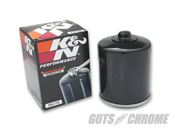 K&N KN-170 K&N オイルフィルター EVO用 ブラック ガッツ クローム kn-170