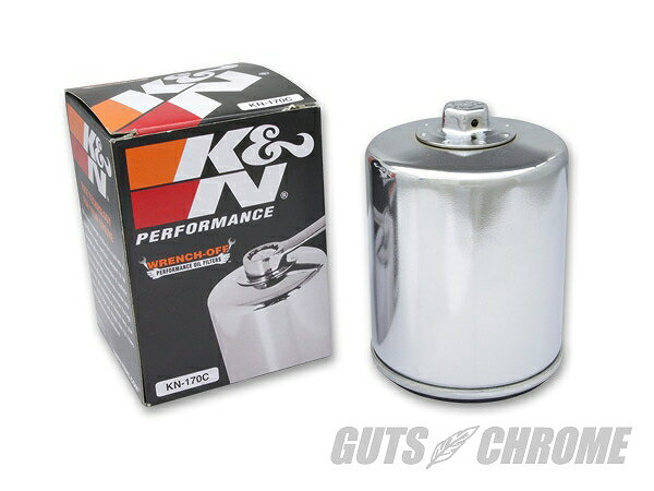K&N KN-170C K&N オイルフィルター EVO用 クローム ガッツ クローム kn-170c