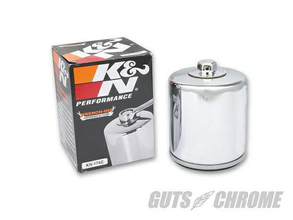 K&N KN-174C K&N オイルフィルター V-ROD クローム ガッツ クローム kn-174c