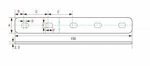 キタコ0900-529-10202ユニバーサルステーSPCCφ8ストレート150MM2.3TKCON