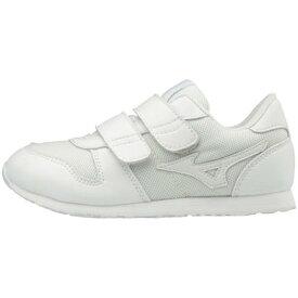 MIZUNO ミズノ K1GD1840 ミズノランキッズモノ キッズシューズ/靴 ホワイト 21.5cm