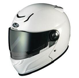 OGK KABUTO AFFID アフィード ホワイトメタリック ヘルメット フルフェイス サイズ:Sサイズ