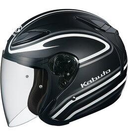 OGK KABUTO AVAND2 アウ゛ァンド STAID ステイド フラットブラックホワイト ヘルメット ジェット サイズ:Mサイズ