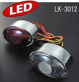 LUKE LK-3012RD LEDテールランプ ミニキャッツアイ レッド ラフ&ロード